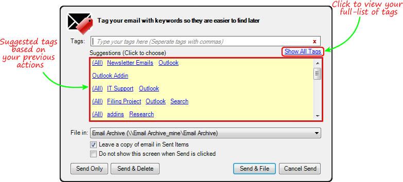 EmailTags Outlook | Standss com