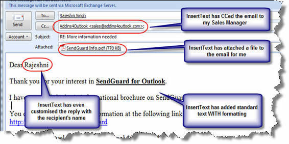 template email in outlook 2010